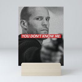 JASON STATHAM FAST AND FURIOUS SHAW QUOTE Mini Art Print