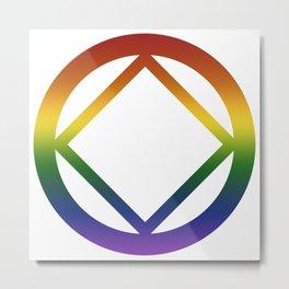 Narcotics Anonymous Rainbow Pride Symbol Metal Print
