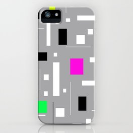 Retro tv abstract Geometric Pattern design iPhone Case