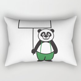 Panda Sign Rectangular Pillow
