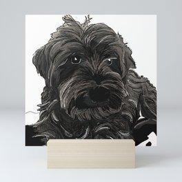 Schnauzer dog Mini Art Print
