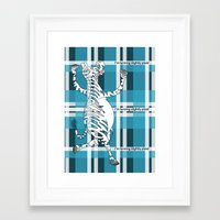 zebra Framed Art Prints featuring Zebra  by mailboxdisco