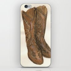 Watercolor Cowboy Boots iPhone & iPod Skin