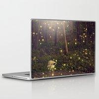 fireflies Laptop & iPad Skins featuring Fireflies by Maureen Anne
