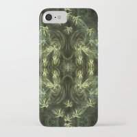 green pattern iPhone & iPod Cases featuring Green pattern by Armine Nersisian