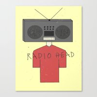 radiohead Canvas Prints featuring Radiohead by Courtney Vlaming