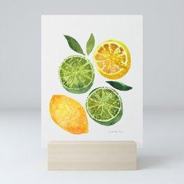 Lemons & Limes Mini Art Print