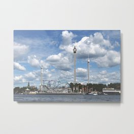 Gröna Lund in the Clouds Metal Print