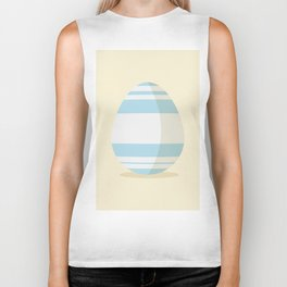 Easter egg with stripes Biker Tank