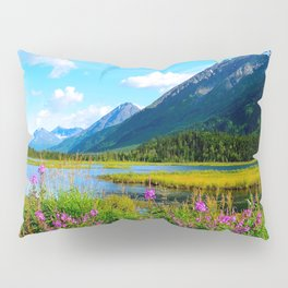 God's Country - Summer in Alaska Pillow Sham