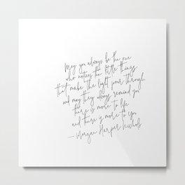 Morgan Harper Nichols Quote Poster Print  Typography Quote Print Positive Quote Metal Print