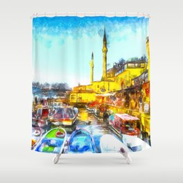 Istanbul Art Shower Curtain