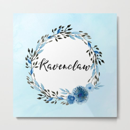 HP Ravenclaw in Watercolor Metal Print