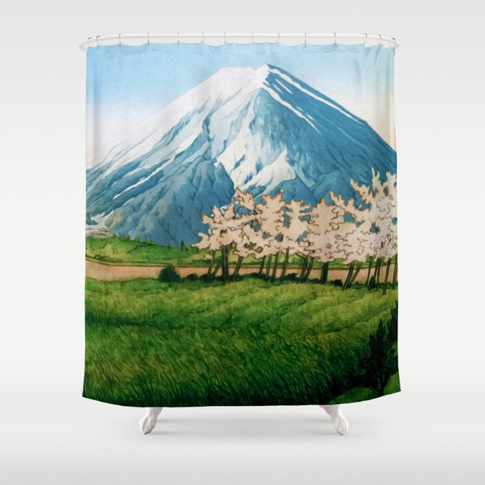 Resting before the Climb Shower Curtain