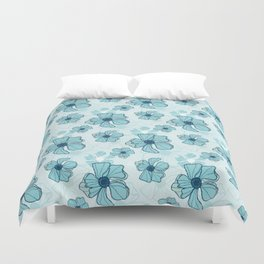 Blue Poppy Bash Duvet Cover