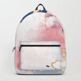 Kintsugi Pastel Marble #kintsugi #gold #japan #marble #pink #blue #home #decor #kirovair Backpack