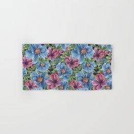 Hibiscus Flowers on Chalkboard Hand & Bath Towel