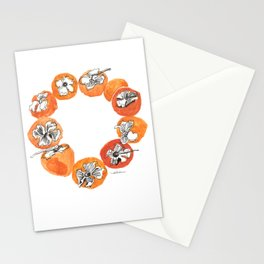 Persimmon Wreath Stationery Cards