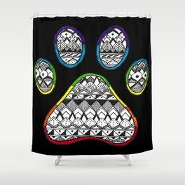 Rainbow Paw Shower Curtain