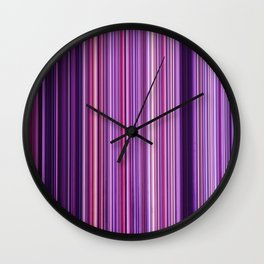 Pink Purple Stripes Wall Clock
