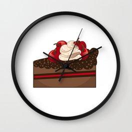 Cherry cake slice Wall Clock