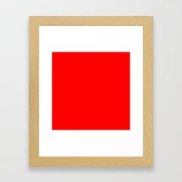 (Red) Framed Art Print