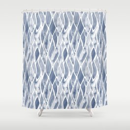 Sand Flow Pattern - DarkBlue Shower Curtain