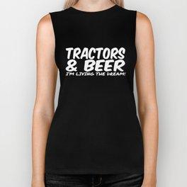 TRACTORS _ BEER funny farming tee xmas birthday gift mens womens new top farm Biker Tank