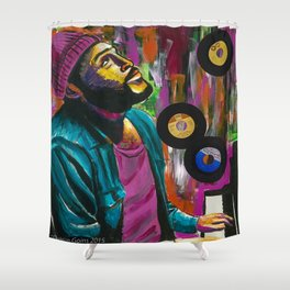 whats going on? Shower Curtain