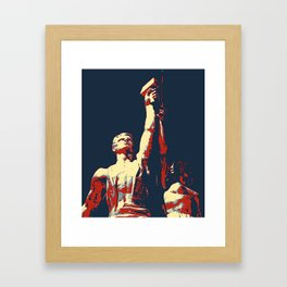 WORKERS OF THE WORLD UNITE Framed Art Print