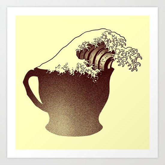 Coffee Wave Art Print