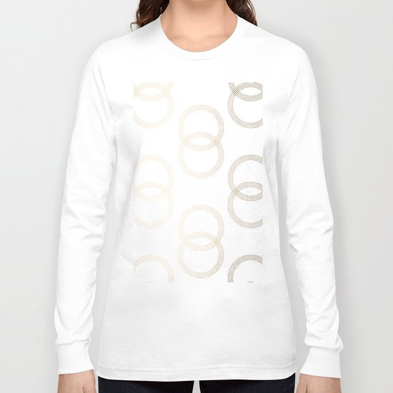 Simply Infinity Link in White Gold Sands on White Long Sleeve T-shirt
