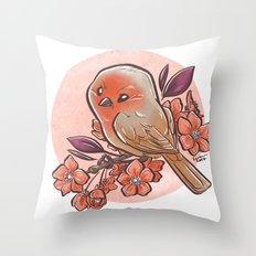 Spring Bird Throw Pillow