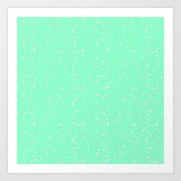 Light Green Shambolic Bubbles Art Print