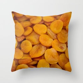 Dried cut apricot fruits Throw Pillow
