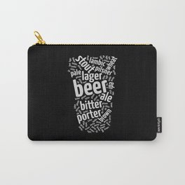 Beer Glass Word Carry-All Pouch