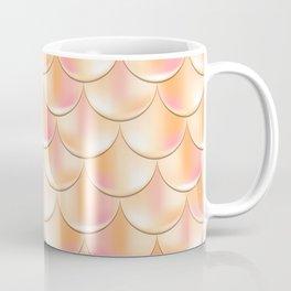 Golden Mermaid Pattern, Holographic Fish Scale Print Coffee Mug