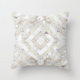 Geo Marble Tile Throw Pillow