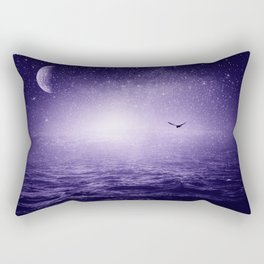 the Sea and the Universe ultra violet version Rectangular Pillow