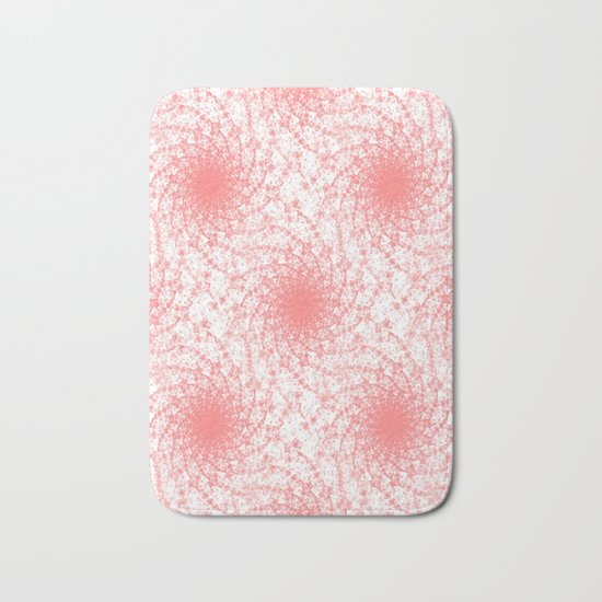 Pink And White Rotation Bath Mat