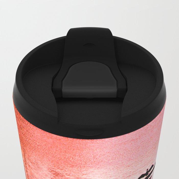 Ripples, reed, reflections,red Metal Travel Mug