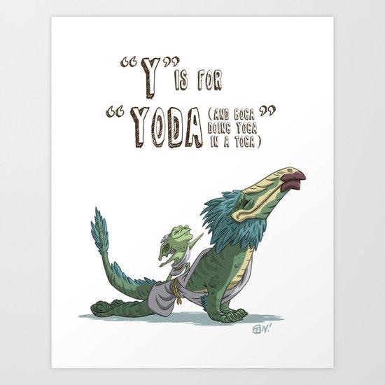 """""""Y"""" Is For """"Yoda"""" Art Print"""