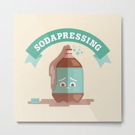 Sodapressing Metal Print