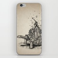 tortoise iPhone & iPod Skins featuring Tortoise Town by Brandon Dover (Braniel)
