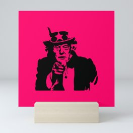 Neon Pink Uncle Trump Needs You Mini Art Print