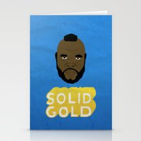 solid Stationery Cards featuring Solid Gold by Chase Kunz