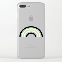 Agender Rainbow Clear iPhone Case
