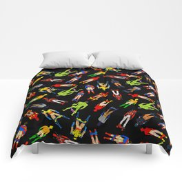 Superhero Butts Pattern (Dark) Comforters
