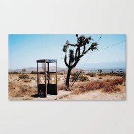 MOJAVE DESERT PHONE BOOTH Canvas Print