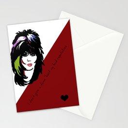Bad Reputation | Joan Jett Inspired Lyric Art Print Stationery Cards
